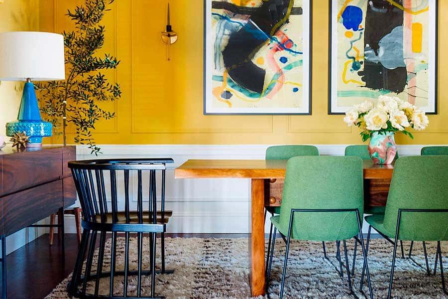 Diseño de interiores colores llamativos